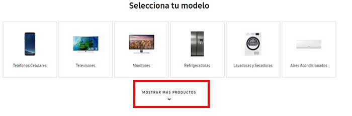 dispositivo para descargar drivers samsung