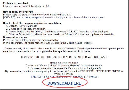 download here los drivers de sony vaio
