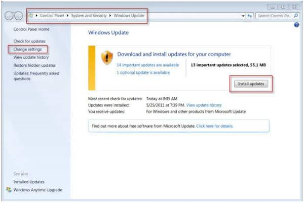 drivers de asus para actualizar através de windows update